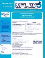 """Le Feuillet """"UFL INFO"""" N°5"""" parution 17 Juin 2015"""