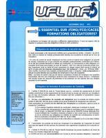 """Le Feuillet """"UFL INFO"""" N°1 parution 02 Janvier 2013"""